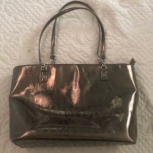Silver metallic Michael Kors tote bag!